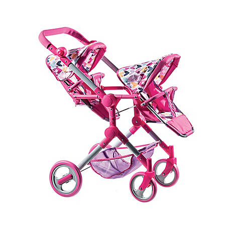 Lissi Modern Twin Baby Doll Stroller, 93000