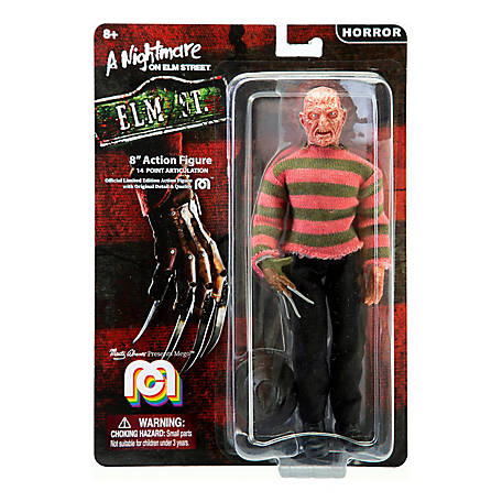 Mego Action Figure, 8 in. Nightmare on Elmstreet - Freddy (Limited Edition Collector's Item), 62825