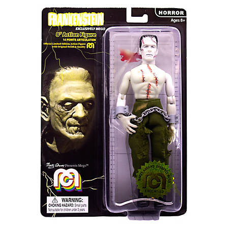Mego Action Figure, 8 in. Frankenstein - Bare Chested with painted stitches (Limited Edition Collector's Item), 62972