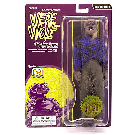 Mego Action Figure, 8 in. New Mego Werewolf - Full Body Flock (Limited Edition Collector's Item), 62973