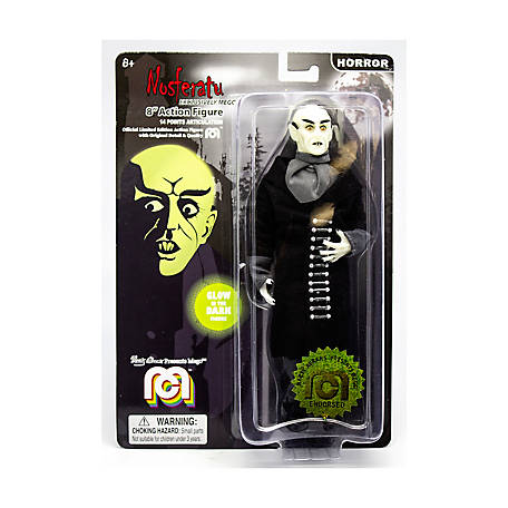 Mego Action Figure, 8 in. Glow in the Dark Nosferatu with Black Coat (Limited Edition Collector's Item), 62975