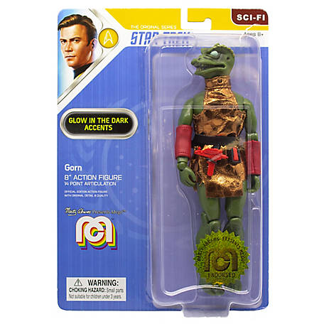 Mego Action Figures, 8 in. Star Trek - Gorn with Glow in the Dark Eyes, Spines, and Teeth, 62978