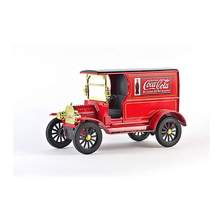 Coca-Cola 1/24 Scale 1917 Ford Model-T Diecast Cargo Van (Collectible Toy Vehicle), 424917
