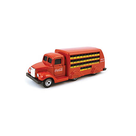 Coca-Cola 1/87 Scale 1937 Coca-Cola Bottle Diecast Truck- Red (Collectible Toy Vehicle), 424132