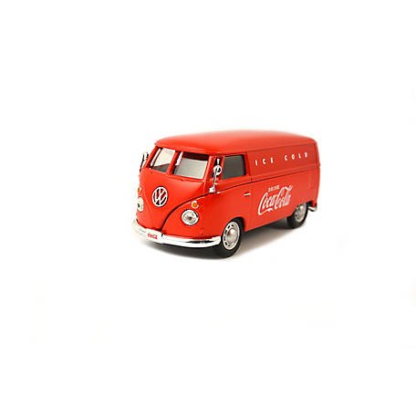 Coca-Cola 1/43 Scale 1962 Volkswagen Diecast Cargo Van - Red (Collectible Toy Vehicle), 430004
