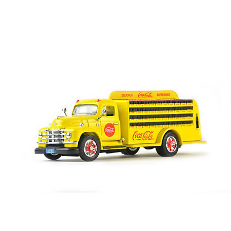 Coca-Cola 1/50 Scale 1955 Diamond T Bottle Delivery Diecast Truck - Yellow (Collectible Toy Vehicle), 450055