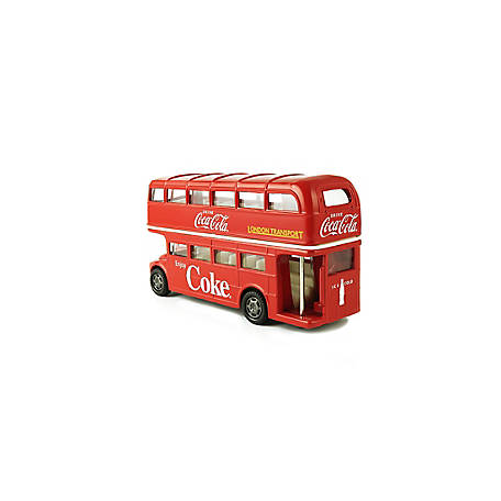 Coca-Cola 1/64 Scale Routemaster London Double Decker Diecast Tour Bus (Collectible Toy Vehicle), 464001