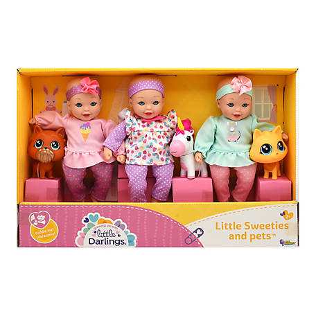 Little Darlings Little Sweeties & Pets Toy Baby Doll Play Set, 3268
