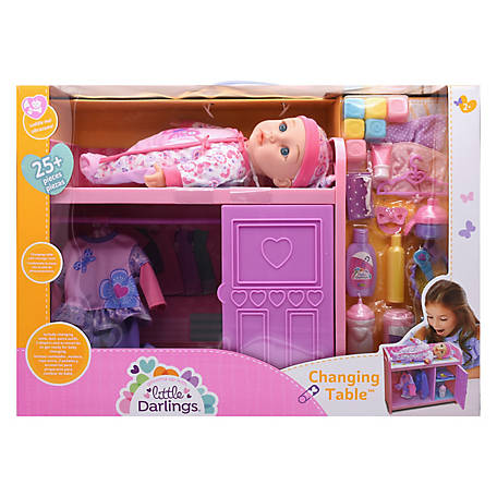 Little Darlings Toy Baby Doll & Changing Table Play Set, 3588