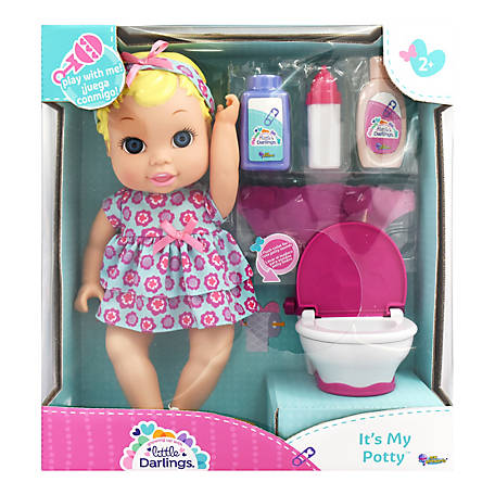 Little Darlings It's My Potty Toy Baby Doll Play Set, 3518