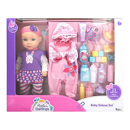 Little Darlings Toy Baby Doll Deluxe Play Set, 6686