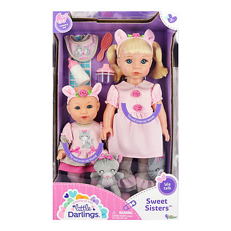 Little Darlings Sweet Sisters Toy Baby Dolls Play Set, 8647