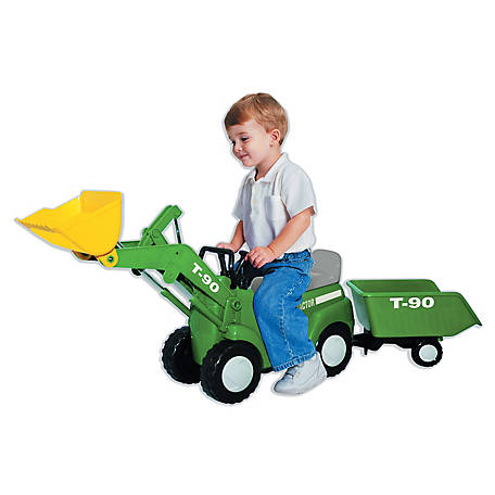 Skyteam Technology Skyteam Technology Farm Tractor with Big Scoop & Trailer- Ride-On, 47790