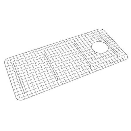 ROHL Wire Sink Grid for Shaws Original Lancaster Single Bowl Farmhouse Apron Front Fireclay Kitchen Sink, Stainless Steel
