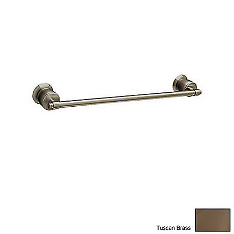 ROHL Zephyr Wall Mount 24 in. Single Towel Bar, Tuscan Brass, RHL-MB1/24TCB