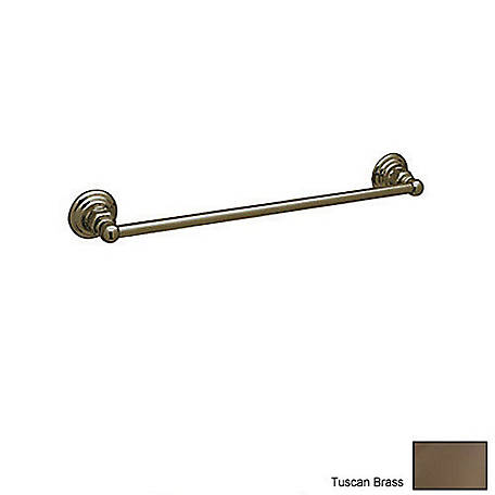ROHL Vincent 18 in. Wall Mount Single Towel Bar, Tuscan Brass, RHL-ROT1/18TCB