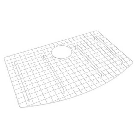 ROHL Wire Sink Grid for Shaws Classic Waterside Single Bowl Farmhouse Apron Front Fireclay Sink, White, RHL-WSG3021WH
