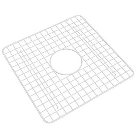 ROHL Wire Sink Grid for Shaws Original Lancaster Two Bowl Farmhouse Apron Front Fireclay Kitchen Sink, White, RHL-WSG3719WH