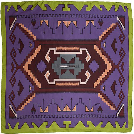 Wyoming Traders Southwest #13 Purple/Lime Scarf, SWPL
