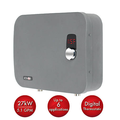 ATMOR 27 kW Electric Tankless Water Heater, AT-910-27TP