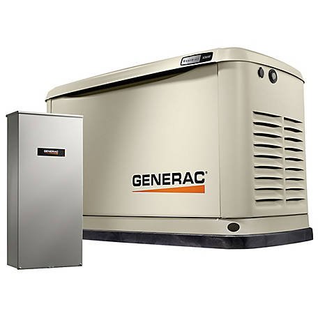 Generac Generac 7172 - Guardian 10kW Home Backup Generator with 16-Circuit Transfer Switch, WiFi-Enabled, 7172
