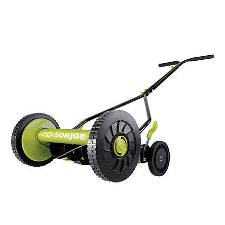 Sun Joe 14 in. Classic Quad Wheel 9 Position Reel Mower, MJ503M