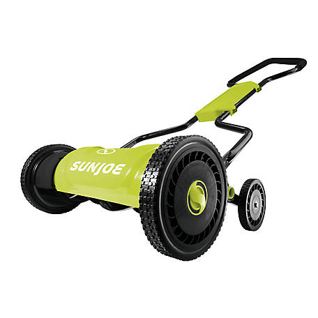 Sun Joe 18 in. Quad-Wheel, 5-Position, Silent Push Reel Mower, MJ1800M