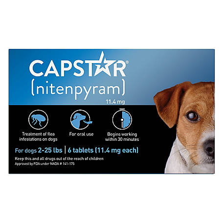 Capstar Flea Tablets Dogs 2-25 lb., 711550012006