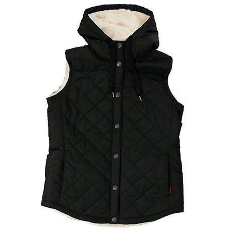 Tough Duck Women's Quilted Sherpa-Lined Vest, WV021