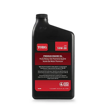 Toro Premium 4-Cycle Oil 10W30 30W, 32 oz., 138-6053A