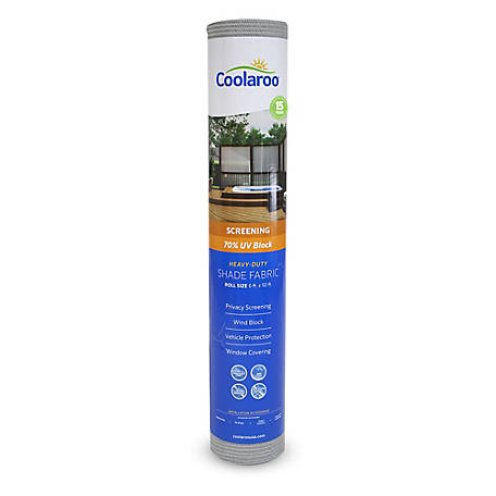 Coolaroo 70% UV Block Shade Fabric, 6 ft. x 50 ft., 457921