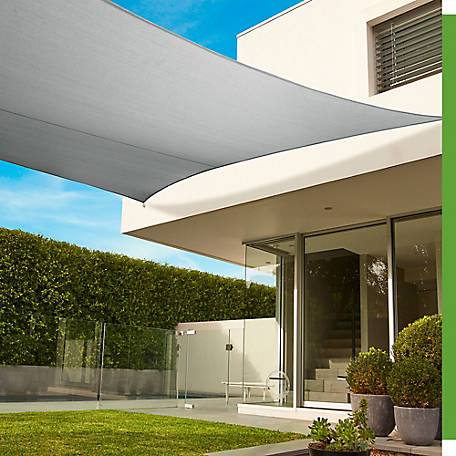 Coolaroo Premium Shade Rectangle Sail, 16.5 ft. x 9.11 ft., 458249