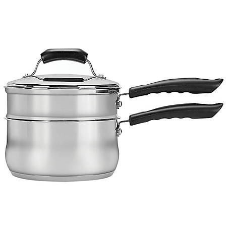 Range Kleen Basic Double Boiler Set 2 qt. with Lid, CW2006