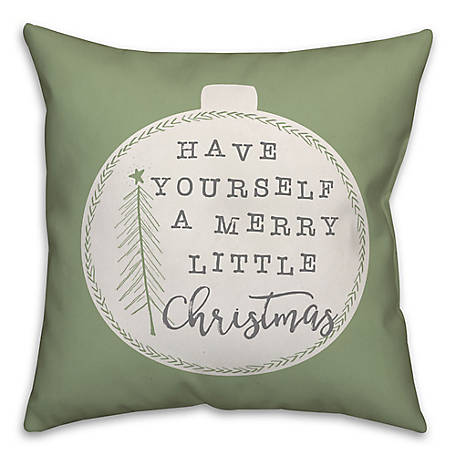 Designs Direct Little Christmas 18 in. x 18 in. Throw Pillow, 5814-M
