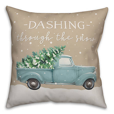 Designs Direct The Snow 18 in. x 18 in. Throw Pillow, 5814-Q