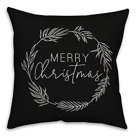 Designs Direct Christmas Wreath 18 in. x 18 in. Throw Pillow, 5821-BA2