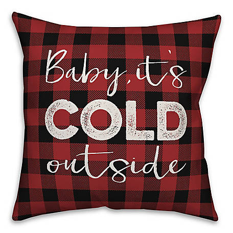 Designs Direct Baby Its Cold Outside 18 in. x 18 in. Thrw Pillw, 5855-A2