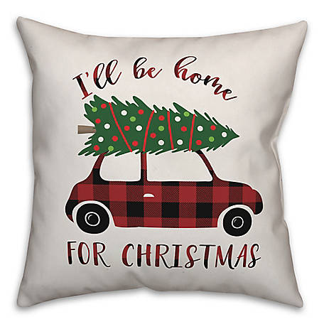 Designs Direct Ill Be Home for Xmas 18 in. x 18 in. Throw Pillow, 5855-H2