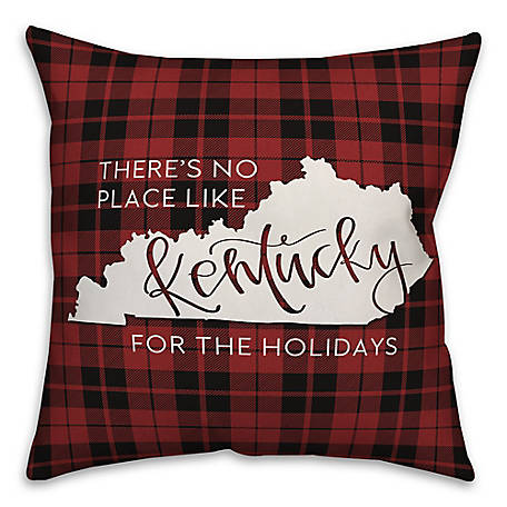 Designs Direct Kentucky Holidays 18 In X 18 In Winter Accent Throw Pillow 5897k2 At Tractor Supply Co