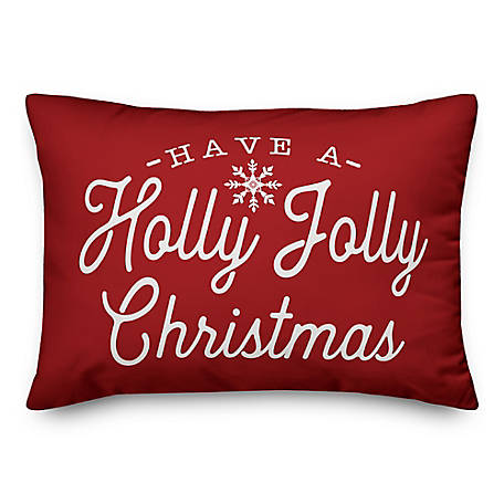 Designs Direct Holly Jolly Xmas 14 in. x 20 in. Throw Pillow, 5821-F1