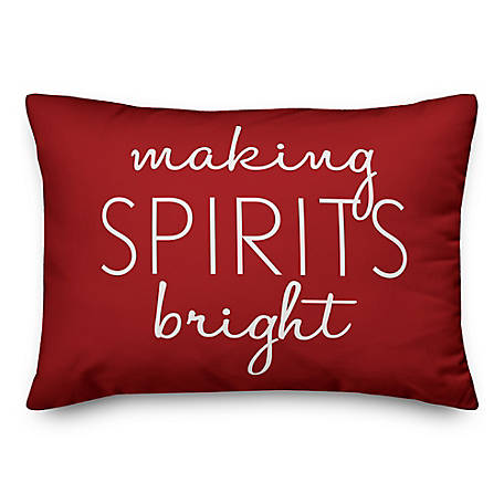 Designs Direct Making Spirits Bright 14 in. x 20 in. Throw Pillow, 5821-K1