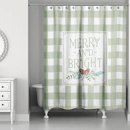 Designs Direct Merry And Bright Shower Curtain, 5814-AN
