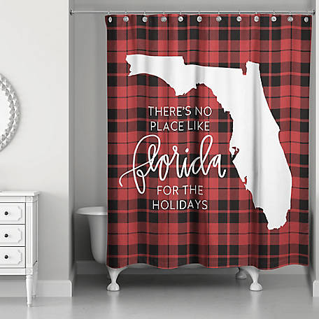 Designs Direct Florida Holidays Shower Curtain, 5897-AH