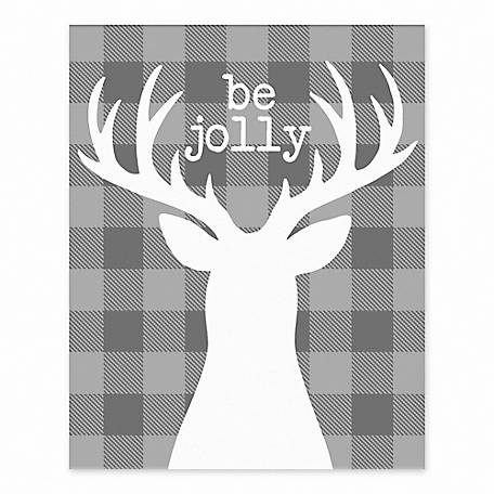 Designs Direct Be Jolly 8 in. x 10 in. Tabletop Canvas, 5834-I