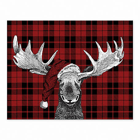 Designs Direct Christmas Moose 11 in. x 14 in. Tabletop Canvas, 5854-I