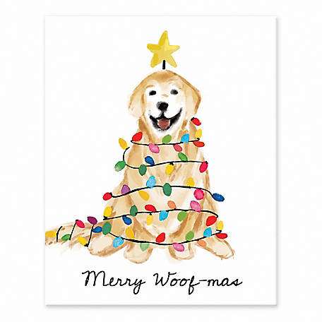Designs Direct Golden Xmas Tree 8 in. x 10 in. Tabletop Canvas, 5909-J