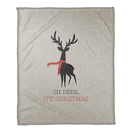 Designs Direct Oh Deer Its Christmas Throw Blanket, 5704-X