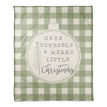 Designs Direct Merry Little Chirstmas Throw Blanket, 5814-AU