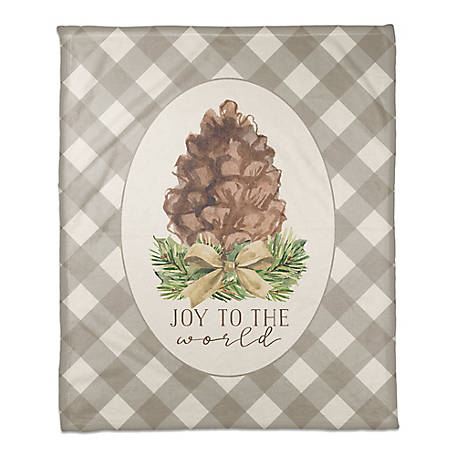 Designs Direct Joy To The World Throw Blanket, 5814-AW
