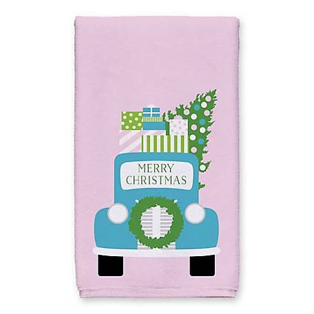 Designs Direct Merry Christmas Truck Towel, 5868-B